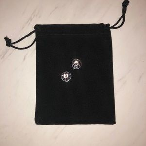 Tory Burch Jewelry - Tory Burch logo earrings silver
